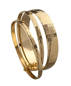 Max & Chloe Yochi Gold Disco Bangle Set
